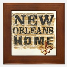 New Orleans Home Fleur De Lis Framed Tile