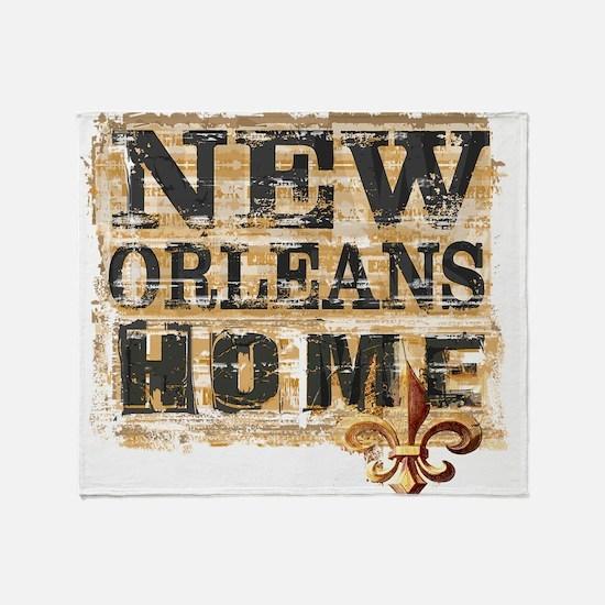 New Orleans Home Fleur De Lis Throw Blanket
