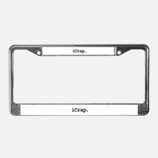 iCrap. License Plate Frame