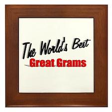 """""""The World's Best Great Grams"""" Framed Tile"""