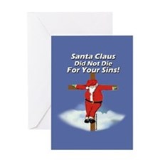 Santacross Greeting Card