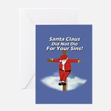 Santacross Greeting Card