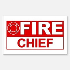 Fire Chief Rectangle Decal