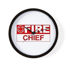 Fire Chief Wall Clock