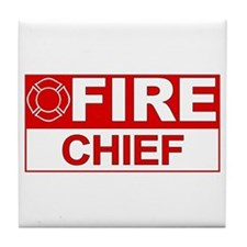 Fire Chief Tile Coaster