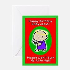 Happy Birthday Baby Jesus Greeting Card