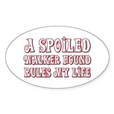 Spoiled Walker Oval Decal
