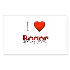 I Love Bogor Rectangle Decal