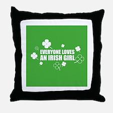 Loves an Irish Girl Throw Pillow