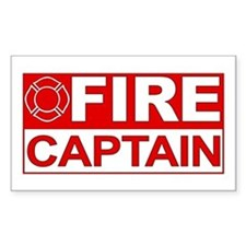 Fire Captain Rectangle Decal