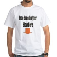 Free Breathalyzer Blow Here Shirt