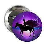 "Pegasus Myth inspirational gift 2.25"" Button (100"