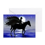 Pegasus Myth inspirational gift Greeting Cards (Pa