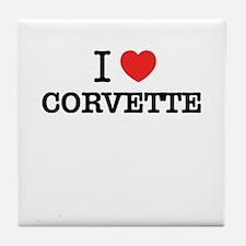 I Love CORVETTE Tile Coaster