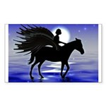 Pegasus Myth inspirational gift Sticker (Rectangul
