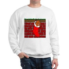 Weiner Dog Xmas Sock Sweatshirt