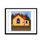 Mangaweka Church Framed Panel Print