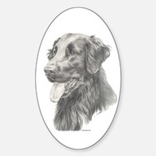 Flat Coated Retriever Oval Decal