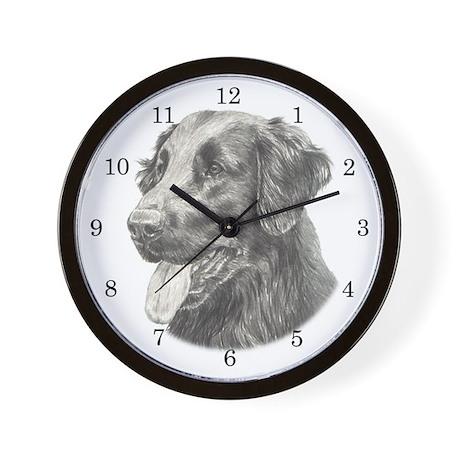 Flat Coated Retriever Wall Clock