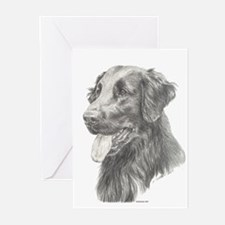 Flat Coated Retriever Greeting Cards (Pk of 10)