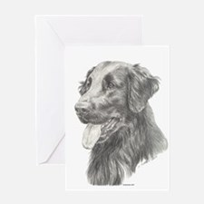 Flat Coated Retriever Greeting Card