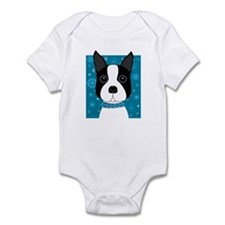 Winter Boston Terrier Infant Bodysuit
