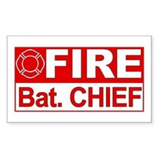 Fire Bat. Chief Rectangle Decal