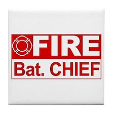Fire Bat. Chief Tile Coaster