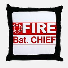 Fire Bat. Chief Throw Pillow