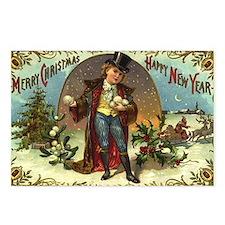 Christmas New Year ~ 8pk Postcards