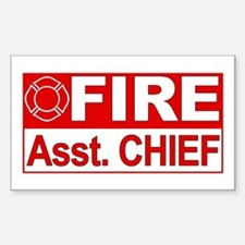 Fire Assistant Chief Rectangle Decal