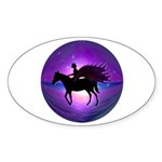 Pegasus Myth inspirational Oval Sticker