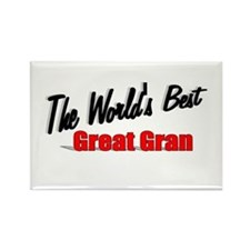 """""""The World's Best Great Gran"""" Rectangle Magnet"""