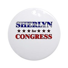SHERLYN for congress Ornament (Round)