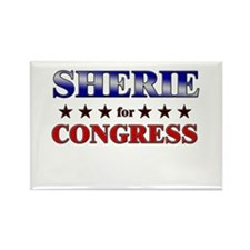 SHERIE for congress Rectangle Magnet