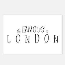 Famous in London Postcards (Package of 8)