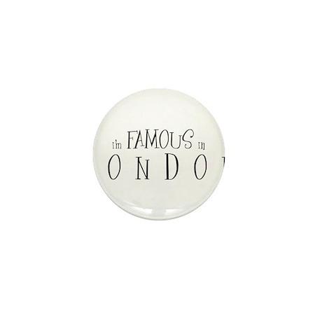 Famous in London Mini Button