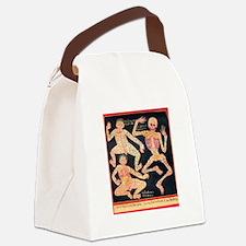 Tibetan Blood Vessel Chart Canvas Lunch Bag