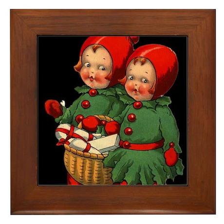 Christmas Holly Kids Framed Tile