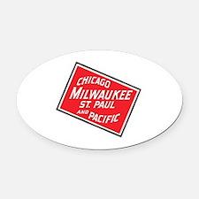 Unique Milwaukee Oval Car Magnet