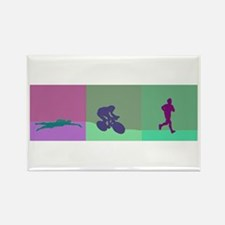 TRIATHLON SILHOUTTE WARM Rectangle Magnet