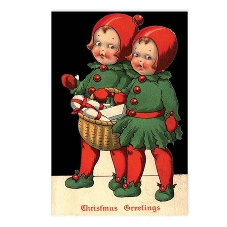 Christmas Holly Kids Postcards (Package of 8)