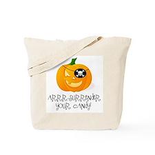 Pirate Pumpkin Tote Bag