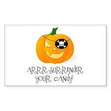 Pirate Pumpkin Rectangle Decal