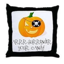 Pirate Pumpkin Throw Pillow