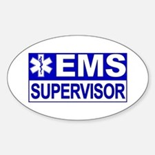 EMS Supervisor Oval Decal