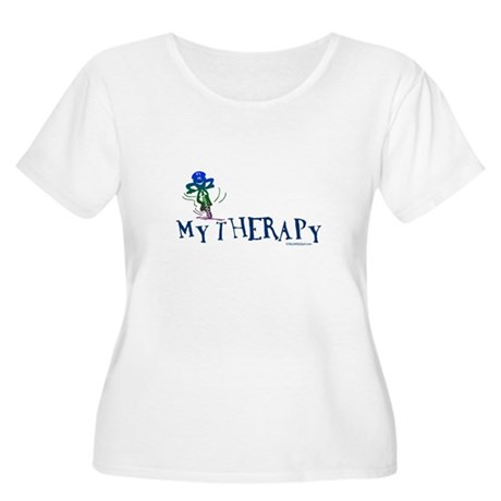 MY THERAPY Women's Plus Size Scoop Neck T-Shirt