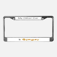 Ginger License Plate Frame