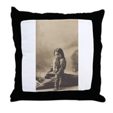 John Lone Bull Throw Pillow
