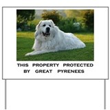 Dog great pyrenees Yard Signs